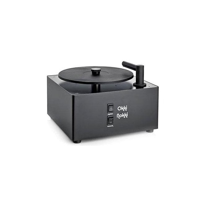 Okki Nokki Record Cleaning Machine in Black + 7 inch Arm